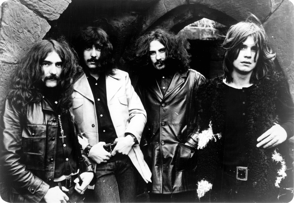 Black Sabbath em 1970. Da esquerda para a direita: Geezer Butler, Tony Iommi, Bill Ward e Ozzy Osbourne
